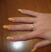 Гелевое наращивание ногтей за 350 руб