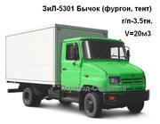 Услуги на ЗиЛ-Бычок  г/п-3.5тн. (борт,  фургон)