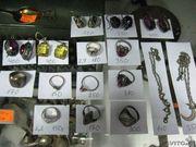 Различные серебряные украшения