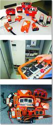 Радиоуправление на телескопический погрузчик JCB, CAT, Bobcat, Merlo, Case